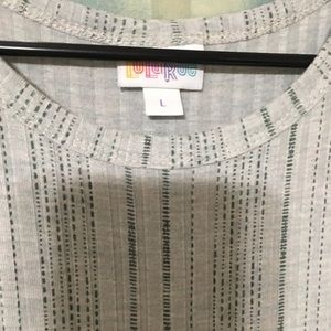 LuLaRoe Dresses - 💥Price Firm💥Lularoe Ribbed Grey/Green Maria